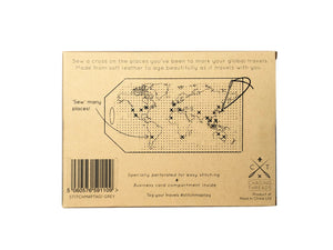 STITCH MAP LUGGAGE TAG GREY