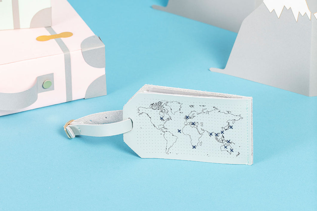 Stitch Map Luggage Tag - Mint