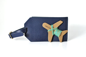 Stitch Luggage Tag - Navy