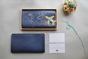 STITCH TRAVEL WALLET NAVY 2.0