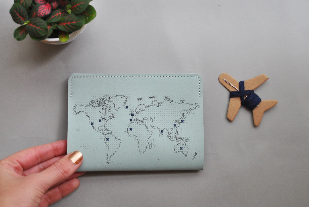 STITCH PASSPORT COVER MINT