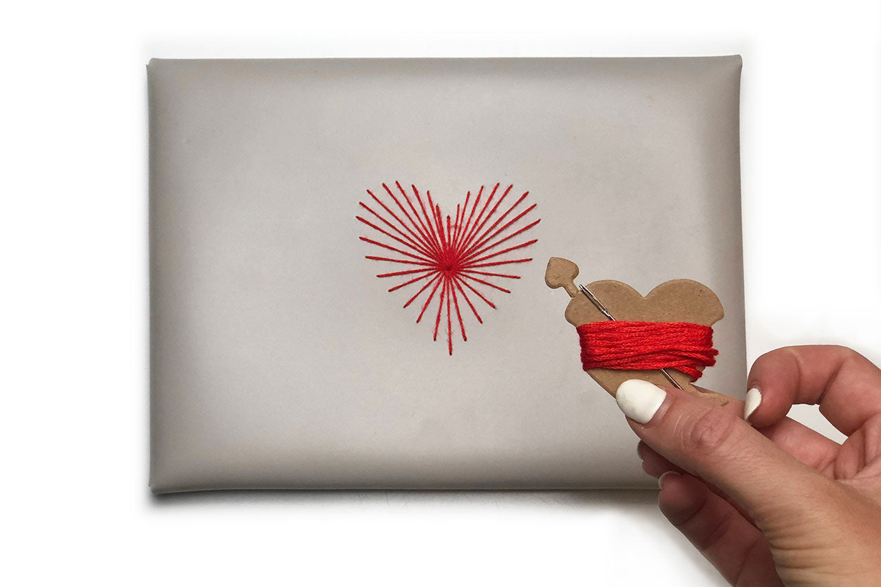 Stitch Heart Strings Envelope Pouch