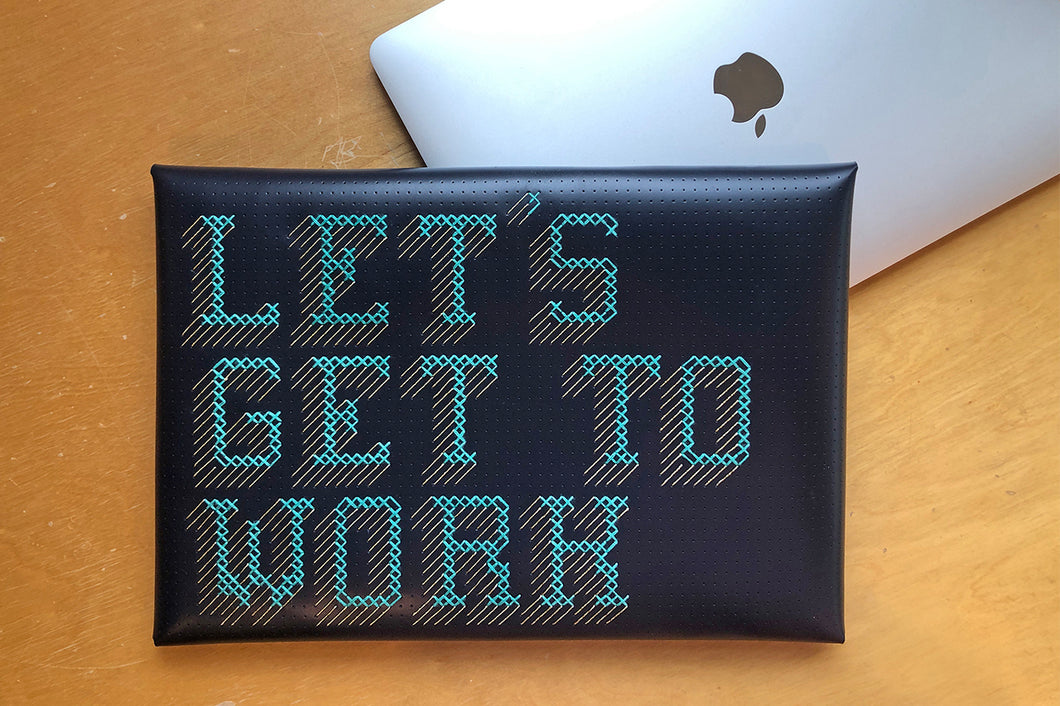 Stitch Laptop Sleeve - Navy