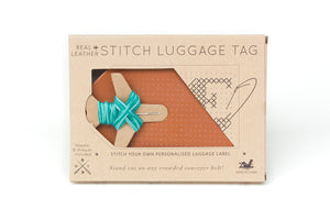 Stitch Passport & Luggage Tag Set - Brown