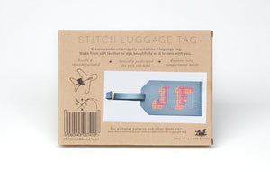 Stitch Luggage Tag - Grey