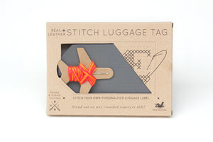 STITCH PASSPORT & LUGGAGE TAG SET GREY