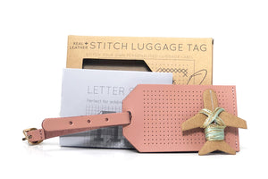 Stitch Luggage Tag - Pink