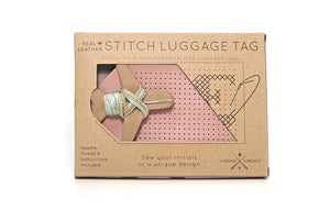 STITCH LUGGAGE TAG PINK