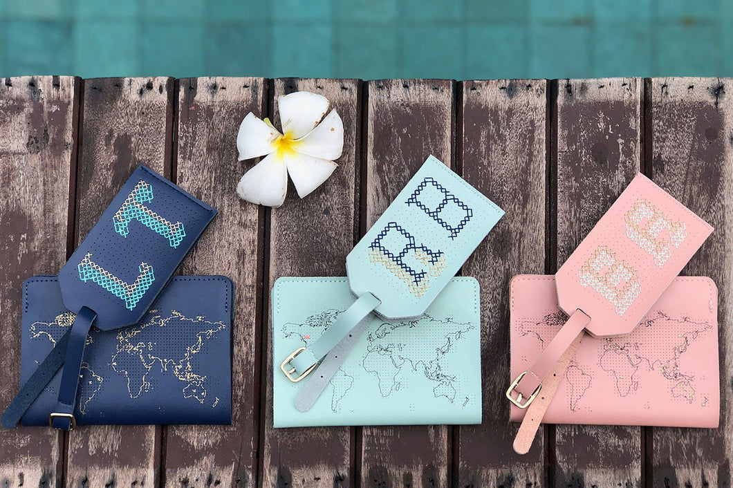 STITCH PASSPORT & LUGGAGE TAG SET