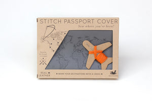 Stitch Passport & Luggage Tag Set - Grey
