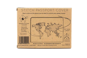 STITCH PASSPORT COVER LIGHT GREY