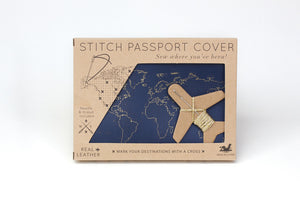 Stitch Passport & Luggage Tag Set - Navy
