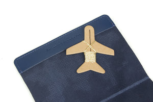 STITCH PASSPORT COVER NAVY