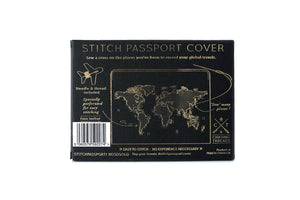 STITCH PASSPORT COVER ROSE GOLD