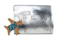 Stitch Passport Cover - Silver (Vegan)