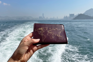 Stitch Passport Cover - Maroon