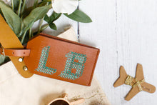 Stitch Luggage Tag - Brown