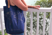 STITCH TOTE BAG NAVY