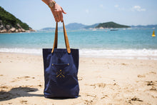 Navy canvas tote bag