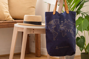 Stitch Tote Bag - Navy