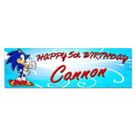 Sonic Hedgehog Personalized Custom Birthday Banner