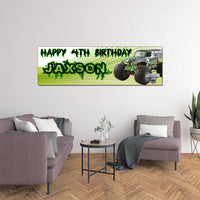 Grave Digger Monster Jam Custom Birthday Banner