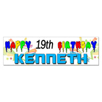 Personalized Custom Printed Birthday Banner