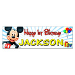 Mickey Mouse Custom Printed Birthday Banner