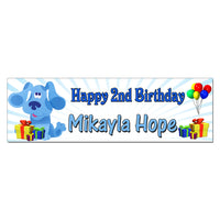 Blues Clues Personalized Custom Birthday Banner