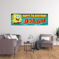 Spongebob Custom Printed Birthday Banner