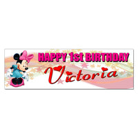 Minnie Mouse Custom Printed Birthday Banner
