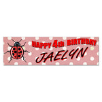 Lady Bug Ladybug Custom Printed Birthday Banner