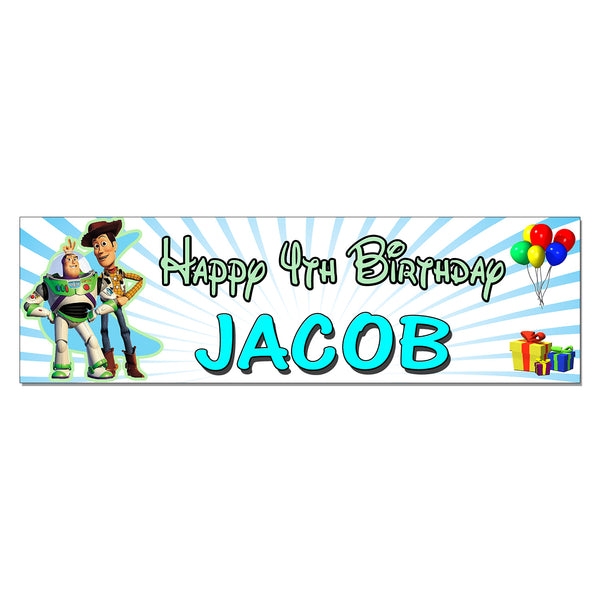 Toy Story Personalized Custom Birthday Banner