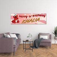 Baby Elmo Personalized Custom Birthday Banner