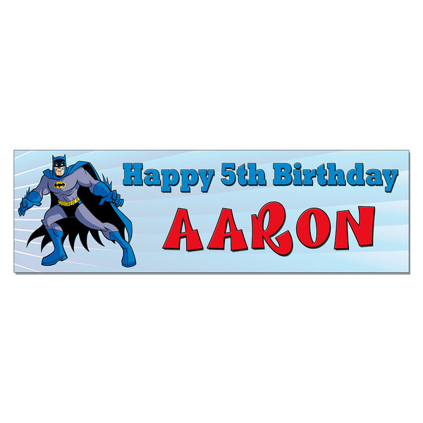 Batman Custom Personalized Printed Birthday Banner
