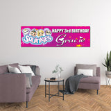 Squinkies Personalized Custom Birthday Banner