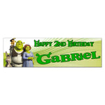 Shrek Personalized Custom Birthday Banner