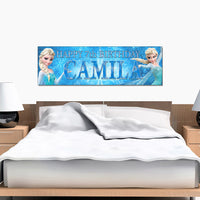Frozen Elsa Custom Printed and Personalized Birthday Banner