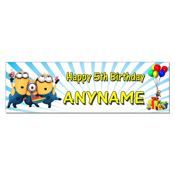 Minions Custom Printed and Personalized Birthday Banner