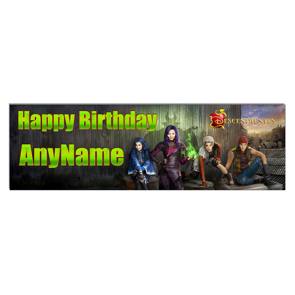 Personalized and Custom Printed Disney Descendants Birthday Banner Party Favor