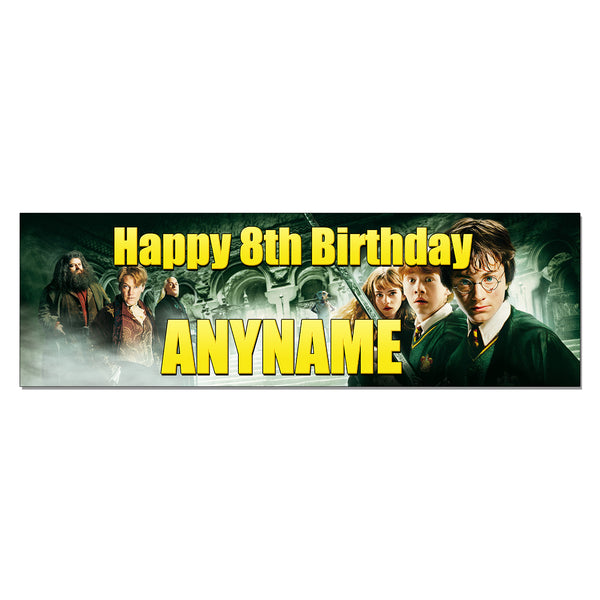 Harry Potter Personalized and Custom Printed Birthday Banner Party Decoration