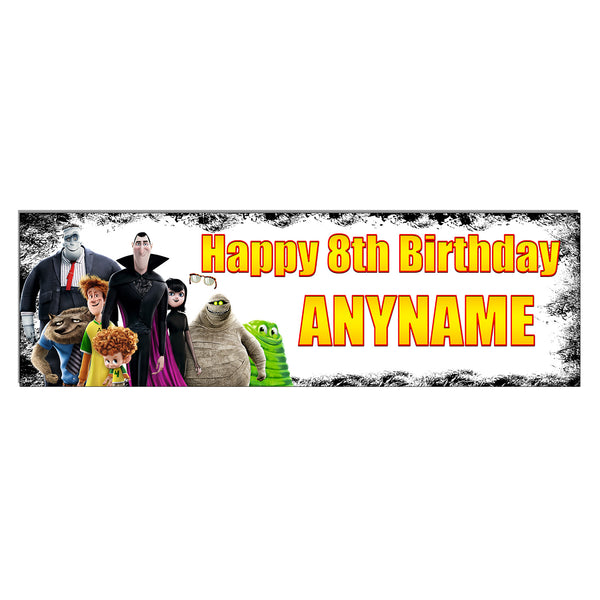 Hotel Transylvania Personalized and Custom Printed Birthday Banner Decoration