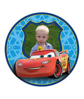 Cars Lightning McQueen Edible Image Photo Frame Cake Topper with Your Image