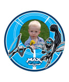 Max Steel Edible Image Photo Frame Cake Topper with Your Image