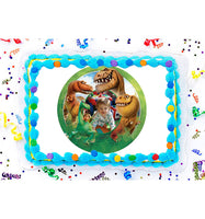 The Good Dinosaur Edible Image Photo Frame Cake Topper with Your Image