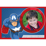 The Avengers Captain America Edible Image Photo Frame Cake Topper with Your Image