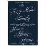 Home Sweet Home Personalized Family Name Plaque - Aluminum Metal