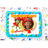 PAW Patrol Marshall Photo Frame Edible Image Cake Topper