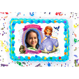 Sofia the First Princess in Training Photo Frame Edible Image Cake Topper