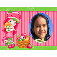 Strawberry Shortcake Celebrate You! Photo Frame Edible Image Cake Topper
